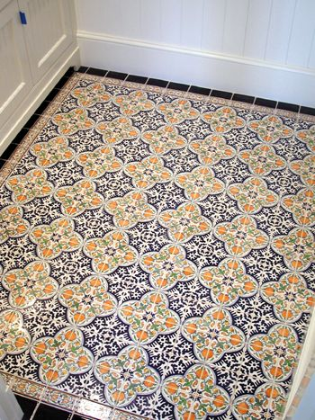 Hand Painted Tile Floor