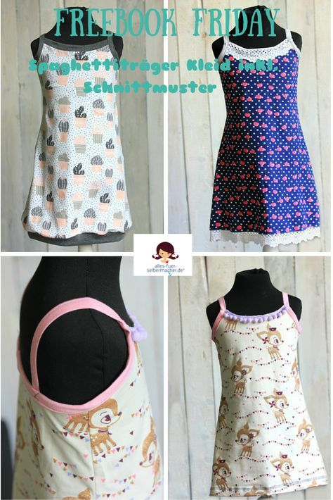 FREEBOOK: Sommerkleid mit Spaghettiträgern | costuras faciles ...