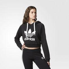 Sweat Shirt A Capuche Crop Noir Beautiful Pinterest Adidas