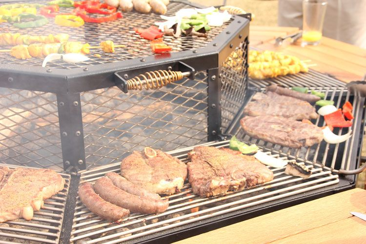 JAG Grilling Photos Videos FirePit Grill BBQ Table Luxury - Octagon fire pit grill table