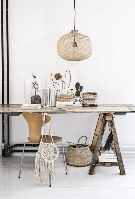 Rustikaler Schreibtisch schreibtisch bauen holz bock idee rustikal design haus