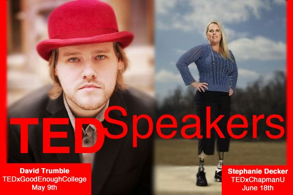 Two #Keynote Speakers will be featured at upcoming #TED events: David Trumble and Stephanie Decker. Both of these Eagles Talent speakers will be sharing their #ideas with audiences around the #globe.