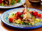 Photo of Grilled Mackerel and Couscous-Grilled Mackerel and Couscous …