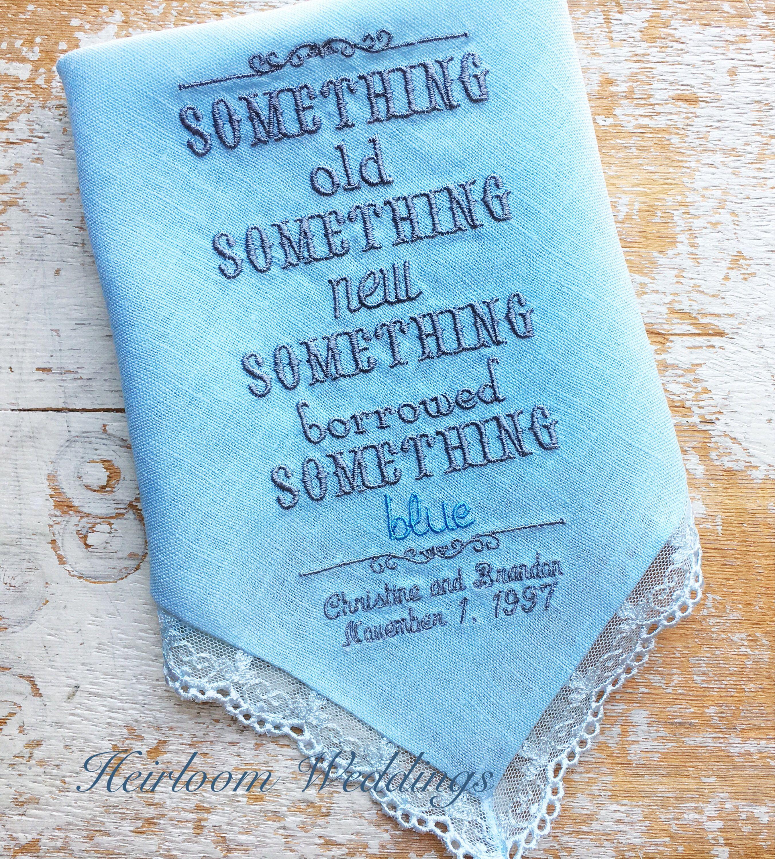 Irish Wedding Gift Ideas: Something Blue! Rare 100% Irish Linen Gift For BRIDE And