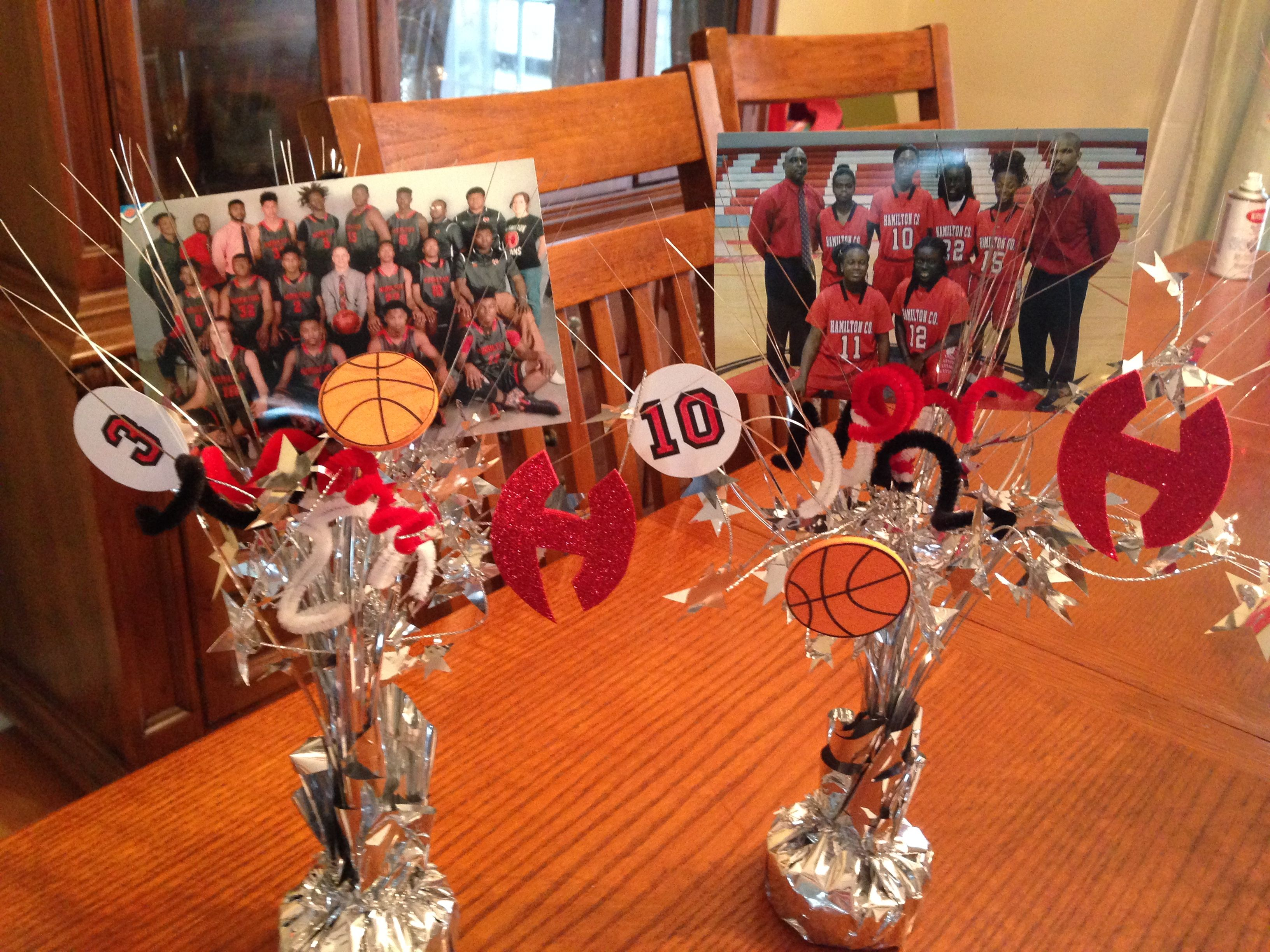 First House Gift Ideas Basketball Centerpieces For The Award Banquet Each Player