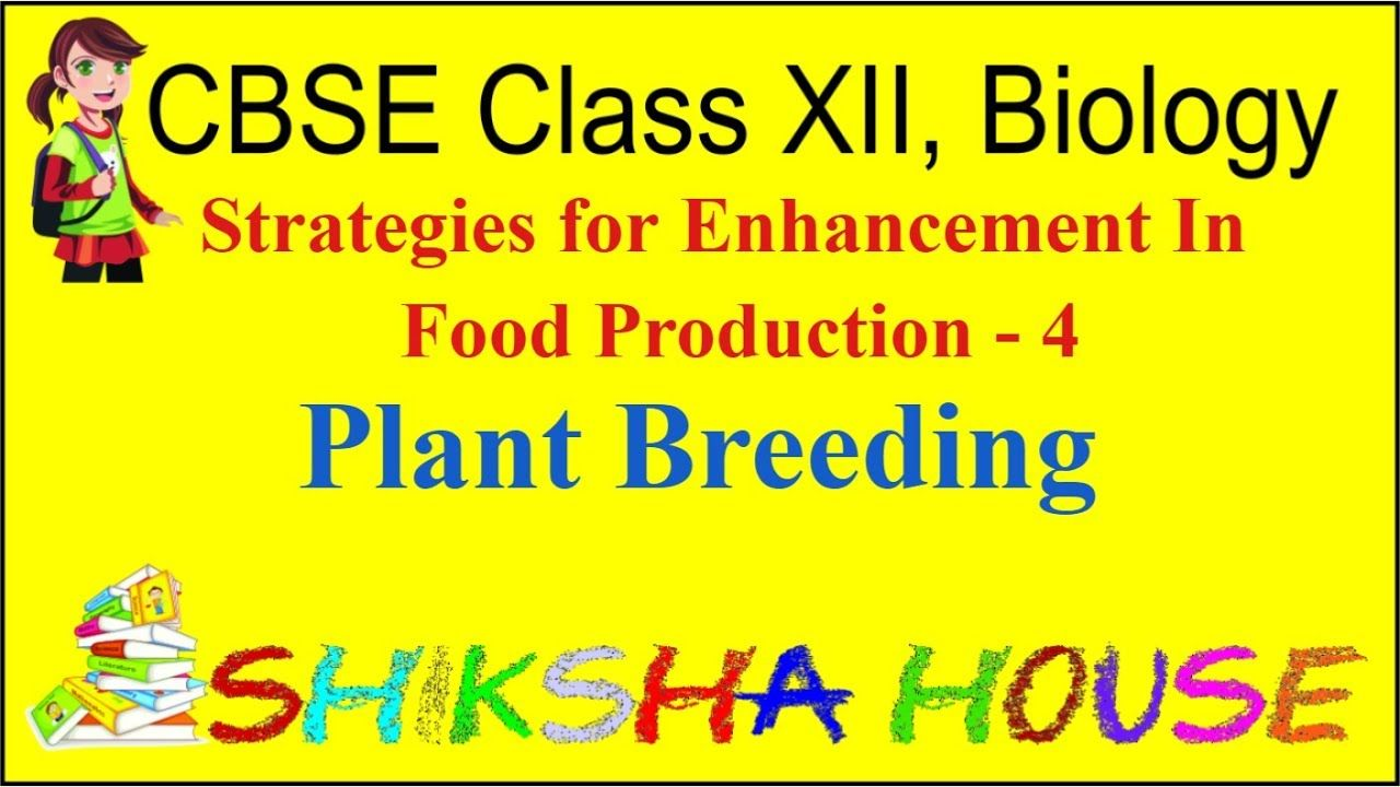 CBSE Class 12 Biology, Strategies for Enhancement In Food