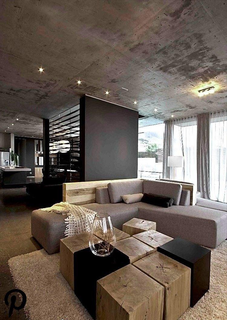 Wohnzimmer in Grau mit Eckcouch im Mittelpunkt – 17 Ideen  Haus