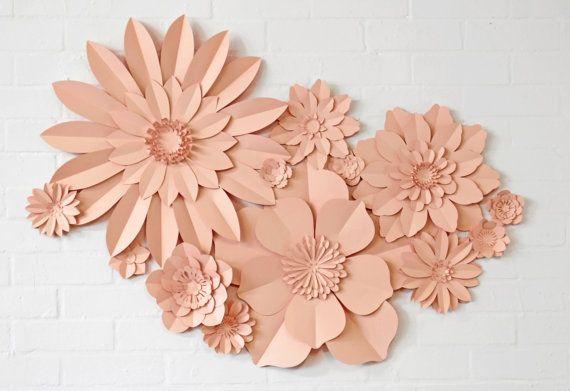 Lot de 13 papier mural fleurs par MayContainGlitterUK sur Etsy