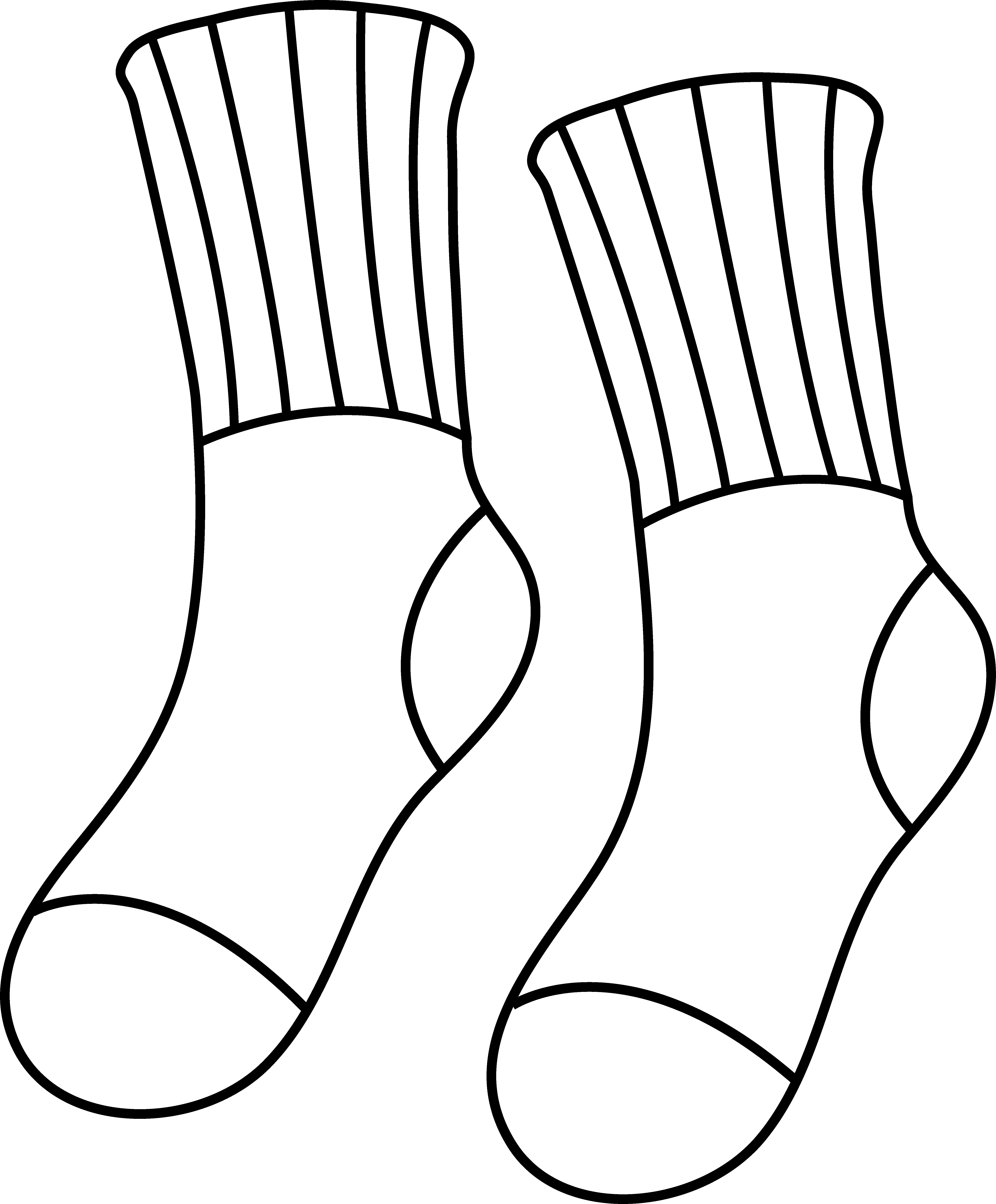 Socks Coloring Page Colorable Socks Outline Coloring Pages Socks Drawing Coloring Pages Inspirational