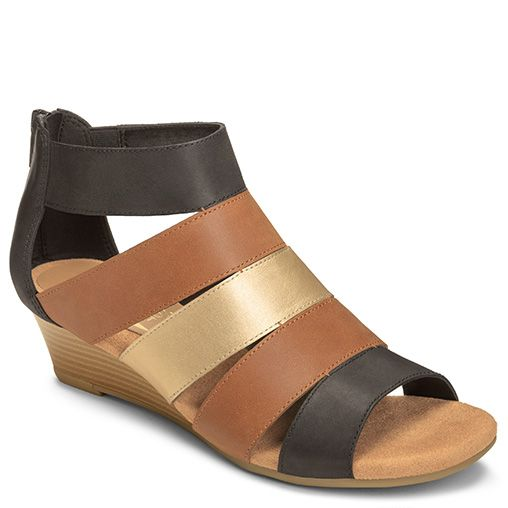 Yet Forth Thick Strappy Wedge | Women's Strappy Sandals | Aerosoles