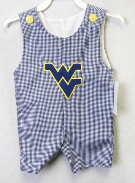WVU Mountaineers Football onesie for a sports baby shower 292324A West Virginia Mountaineers outfit for a football party