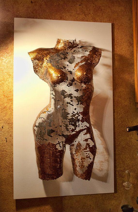 Dusti  Wire Mesh Female Torso Sculpture