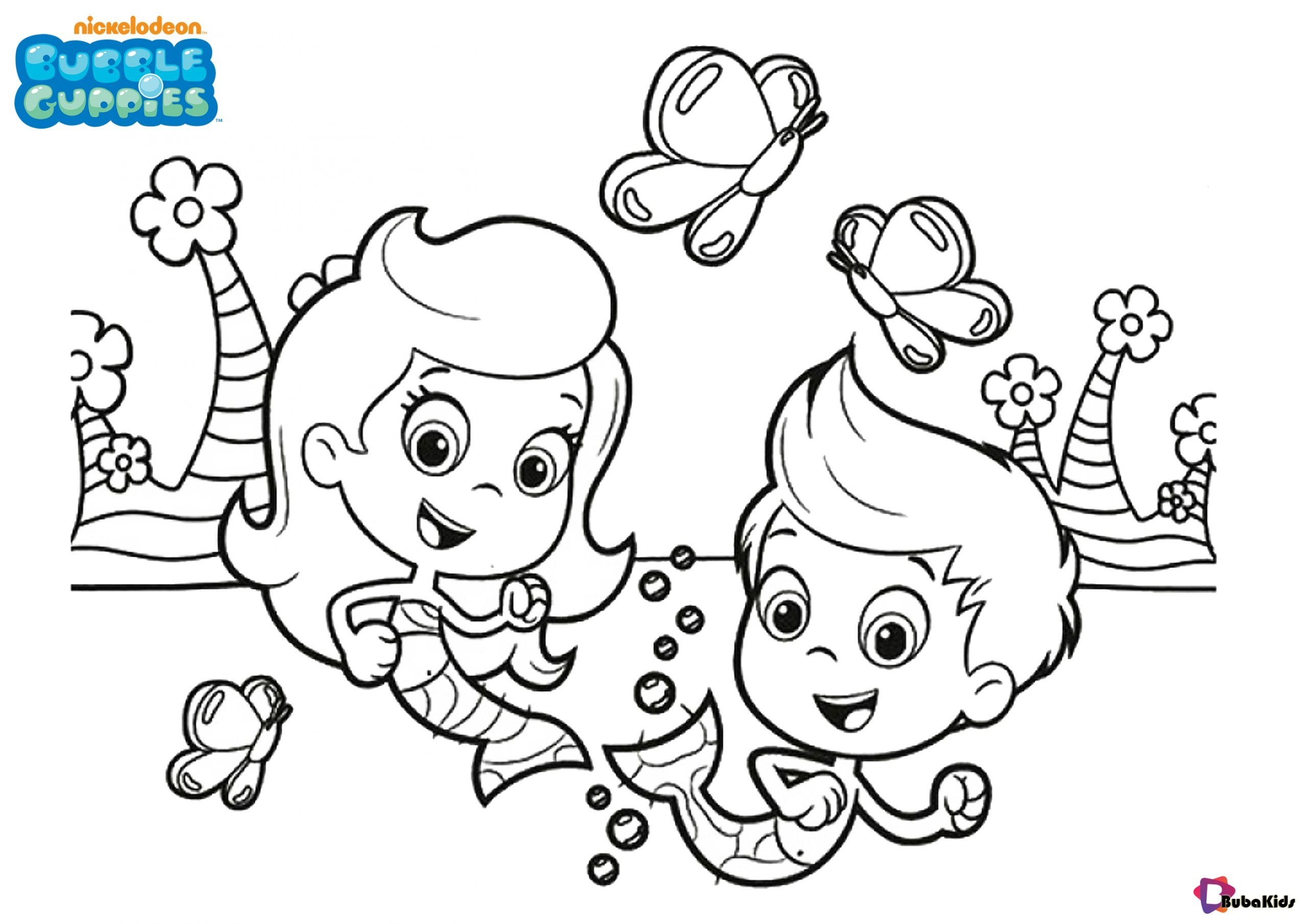 Easy and printable bubble guppies colouring pages for kids