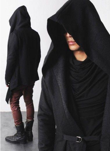 Mens Vandalique Hooded Woolen Cape Cardigan at Fabrixquare-perfect jedi cape!  or closer to a sith cape actually 5cd97ba4e