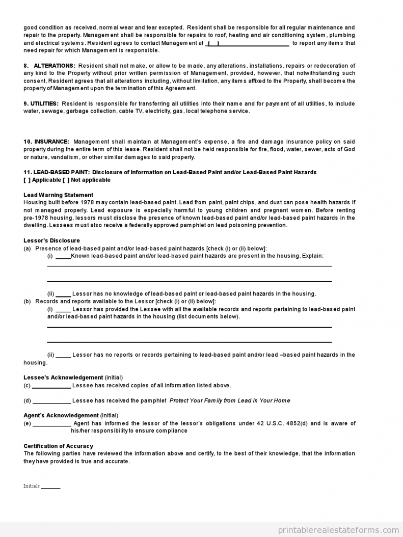 Standard Real Estate Lease Agreement Buying Real Estate Lease Real Estate Forms Rental Agreement Templates