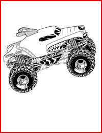 Printables For Coloring Gabe Loves This Monster Truck Coloring