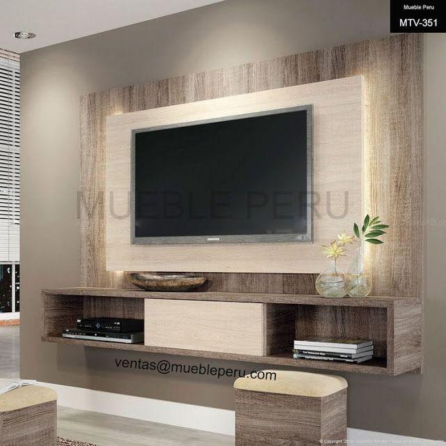 Resultado de imagen para muebles para tv mdf PLANOS Living room - muebles para tv