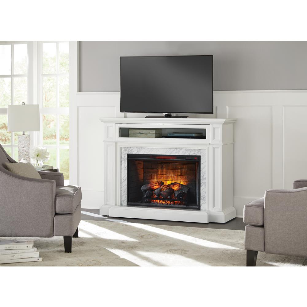 Home Decorators Collection Charice 57 In Freestanding Infrared Electric Fireplace I Freestanding Fireplace Electric Fireplace Free Standing Electric Fireplace