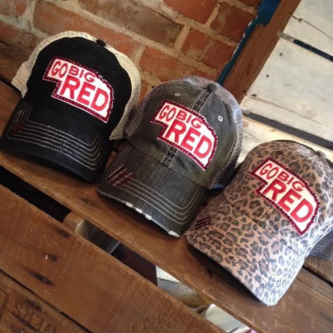 Go Big Red Bling Hat at Hissy Fit Boutique!