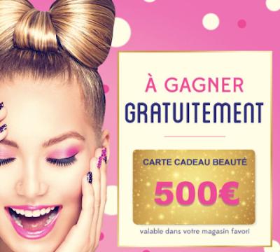 Inscrivez Vous Gratuitement Au Jeu Concours Offrant Une Carte Cadeau Cosmetiques De 500 Valable Dans Votre Magasin Jeu Concours Carte Cadeau Concours Gratuit