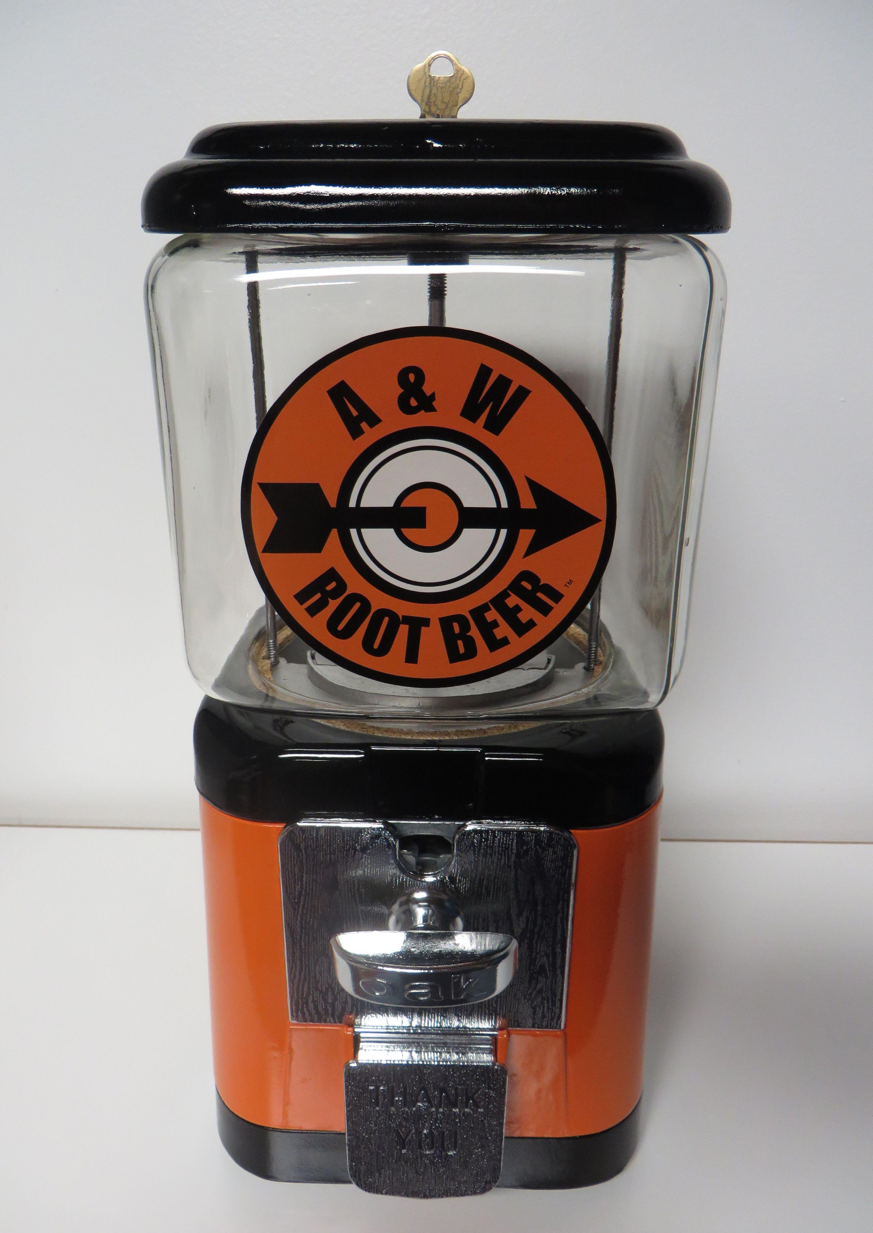 A&W Root Beer Gumball Machine. This vintage Oak Acorn