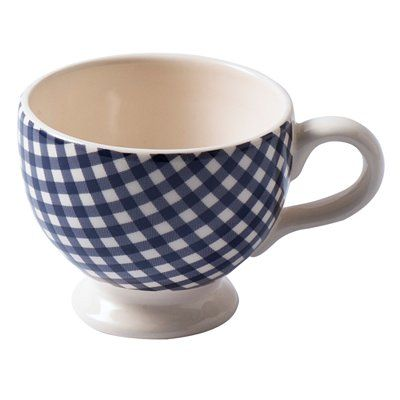 Squeal! Gingham cup - perfect.  From John Lewis.