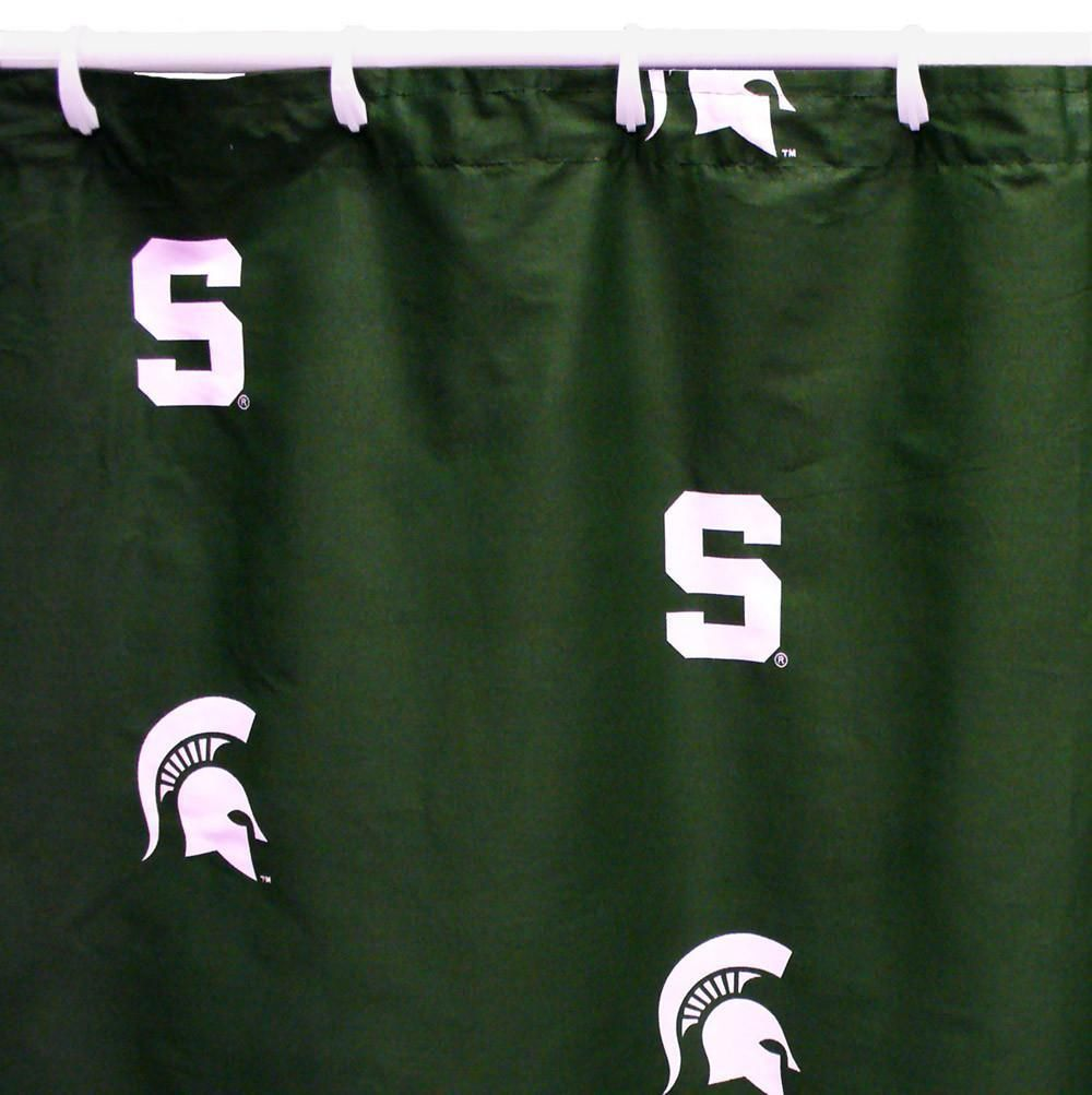 Michigan State Printed Shower Curtain Cover 70 X 72 Msusc By College Covers Michigan State Spartans Michigan Michigan State University