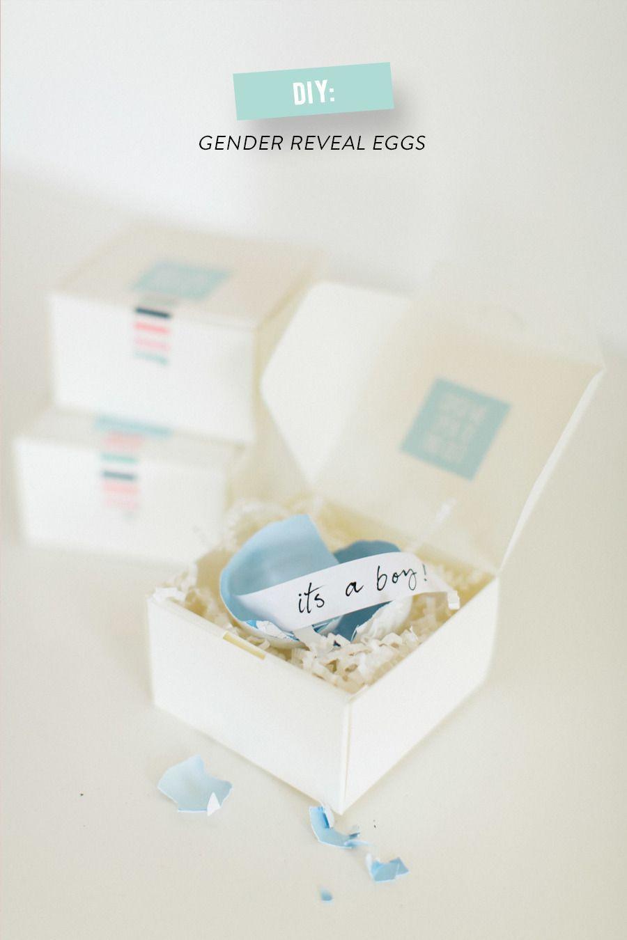 Diy Gender Reveal Egg Packages Reveal Ideas Gender Reveal Cards Baby Gender Reveal