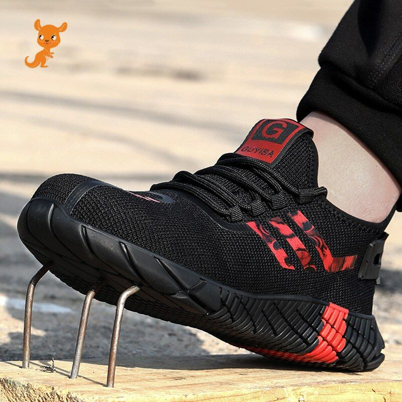 Men Steel Toe Blade Safety Shoes Indestructible Trainers Sports Athletic Sneaker