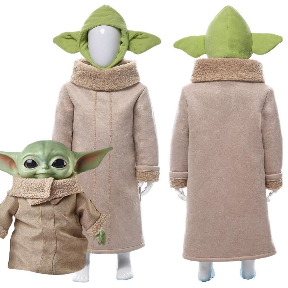 Costume Halloween Yoda.Star Wars The Mandalorian Baby Yoda Suit For Kids Children Cosplay Cos New Cosplaysky In 2020 Kids Star Wars Costumes Baby Yoda Costume Yoda Halloween Costume