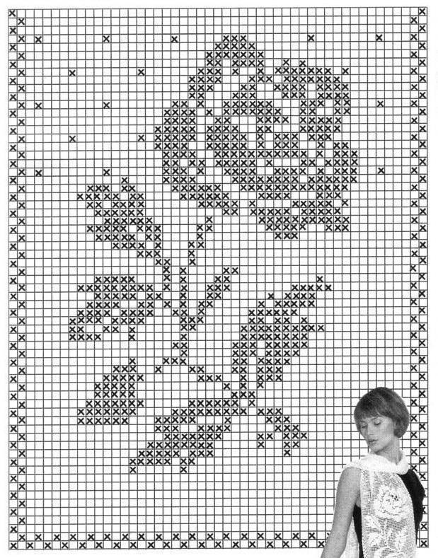 Узоры на филейной сетке фото