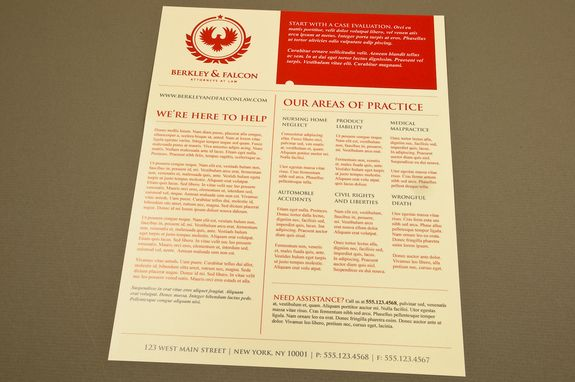 First Aid Training Flyer Template-- Running a first aid course at - law firm brochure