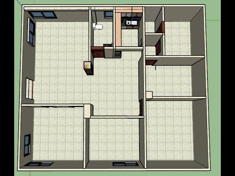 Architectural Floor Plan to 3D Model making in SketchUp Tutorial ll SketchUp 3d Design