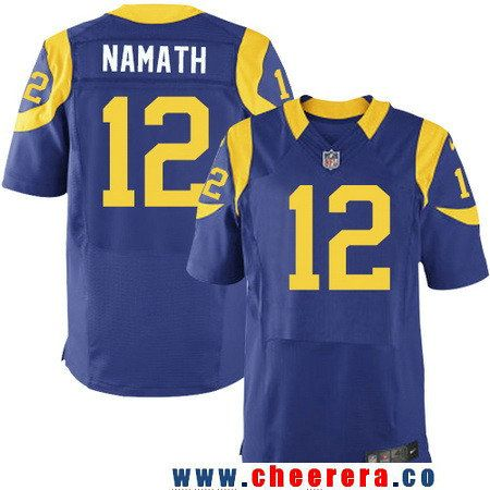 540b430c7 Men s Los Angeles Rams  12 Joe Namath Royal Blue Alternate Sitched NFL Nike  Elite Jersey
