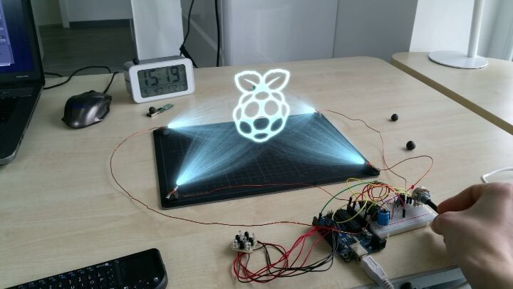 Hologram blender cycles render raspberry pi arduino
