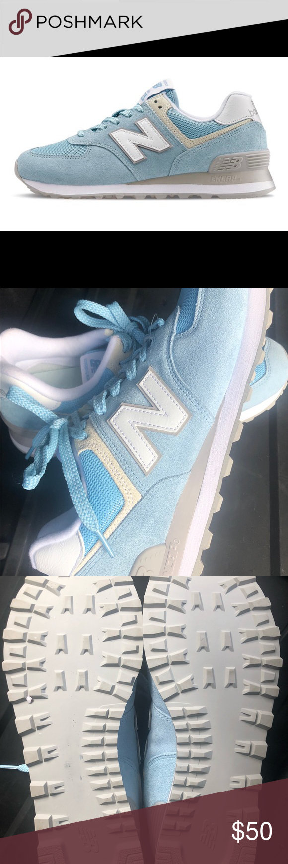 BNWOT New Balance 574 Blue Tennis Shoes Size 10 The New Balance 574 Core womens Source by tennisshoe1338 shoes outfit