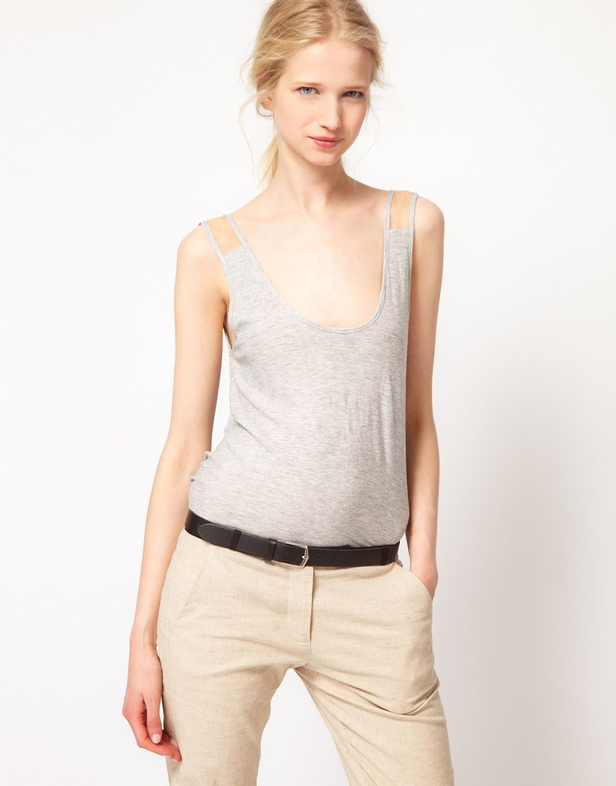 the super sexy antipodium lounger tank in grey marle   available here: http://rstyle.me/h4pppveiuw