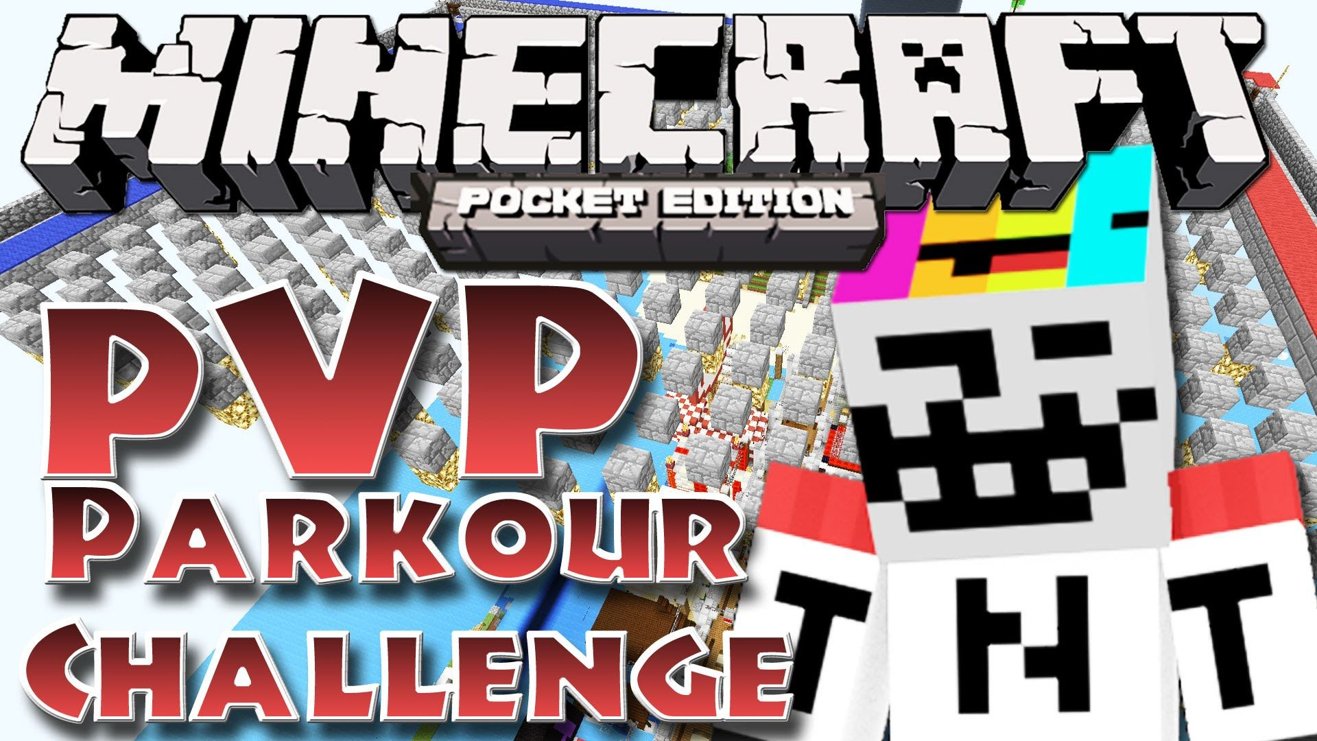 Minecraft PE 0 11 - PVP Pakour Challenge with YouTuber