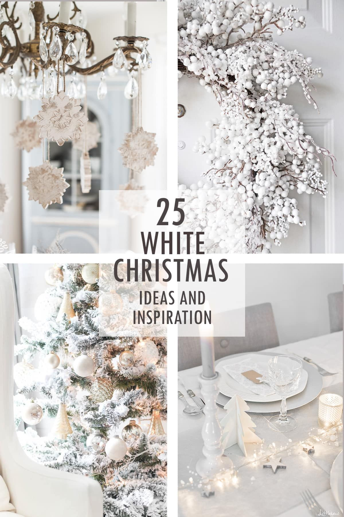A White Christmas Ideas And Inspiration Gold Christmas