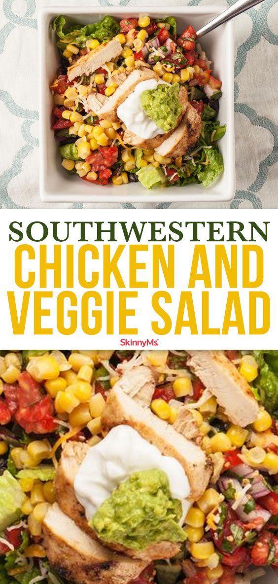 Southwestern Chicken & Veggie Salad images