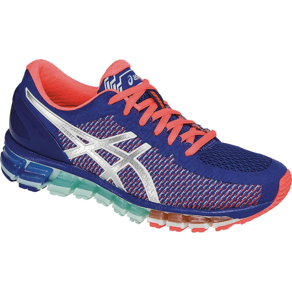 nouvelle arrivee a0a34 ae9cf Asics Gel-Quantum 360 2 Running Shoe Asics Blue/White/Flash ...