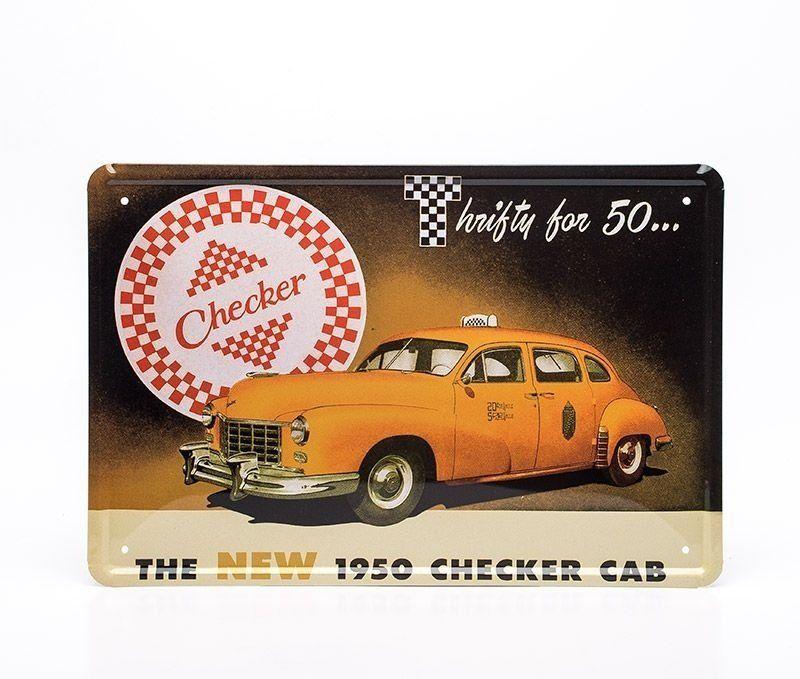 Placa Decorativa Taxi Vintage - Machine Cult   A loja das camisetas de carro e moto