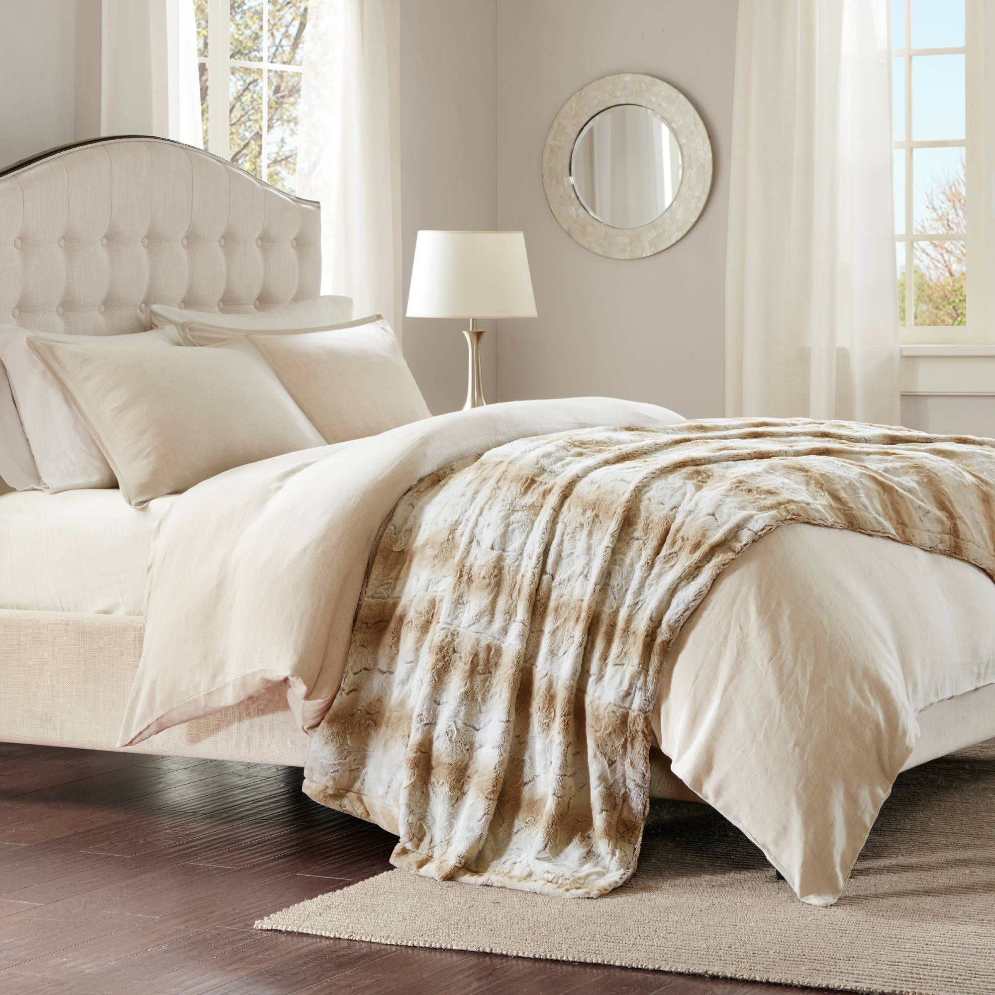 using premium rugs usa bed faux the fur bedding pin area made luxurious in