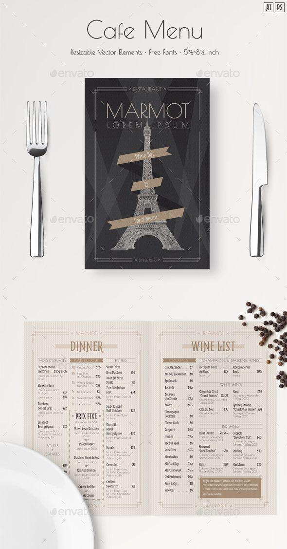 French Menu Template Menu templates, Template and Food menu template - free printable restaurant menu template