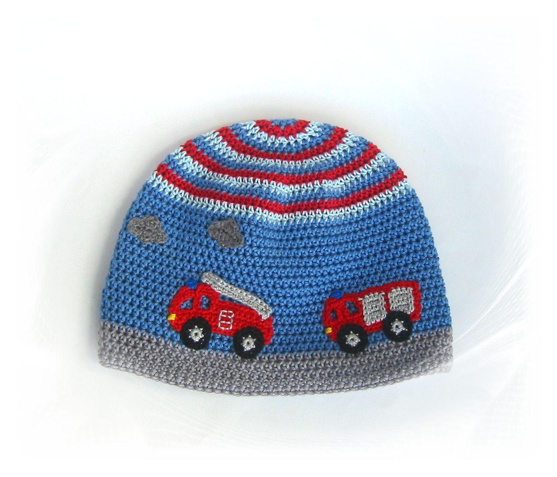 Mütze Feuerwehr Savö Design Häkel Stricken Sticken