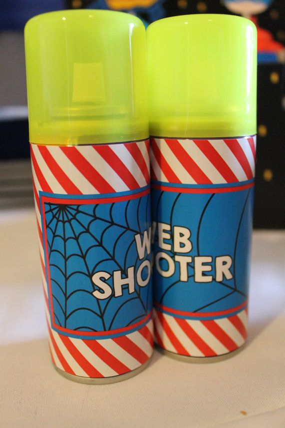 Superhero Party Spiderman Web Shooter Label Printable pdf file (for