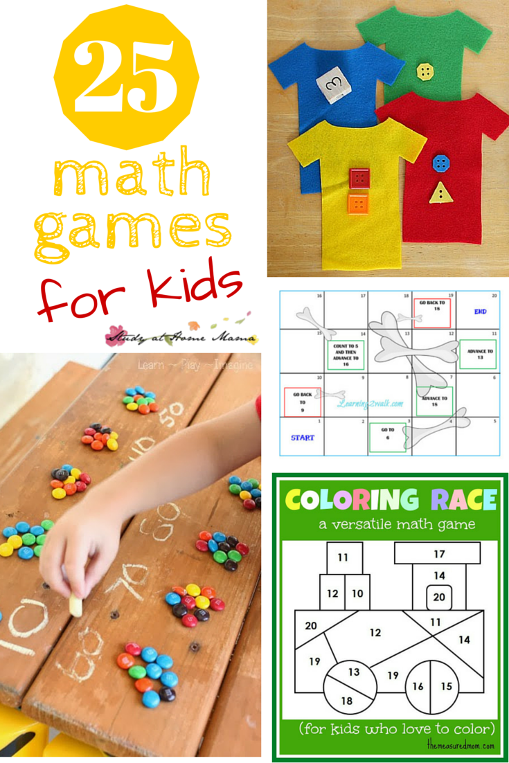 25 Math Games for Kids - get kids excited about learning new math ...