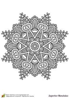 superbes mandalas etoile geometrie