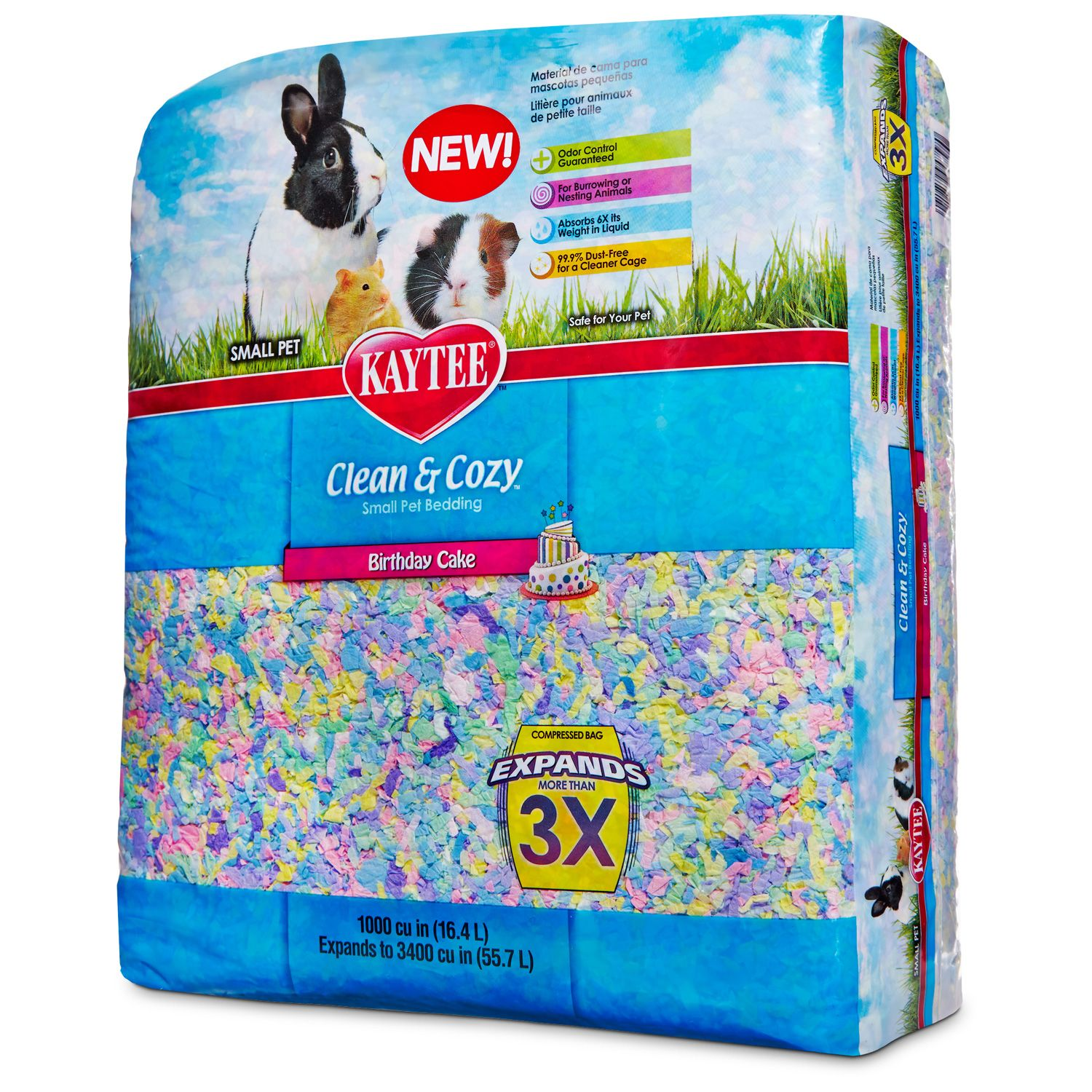 kaytee clean & cozy birthday cake small animal bedding | small