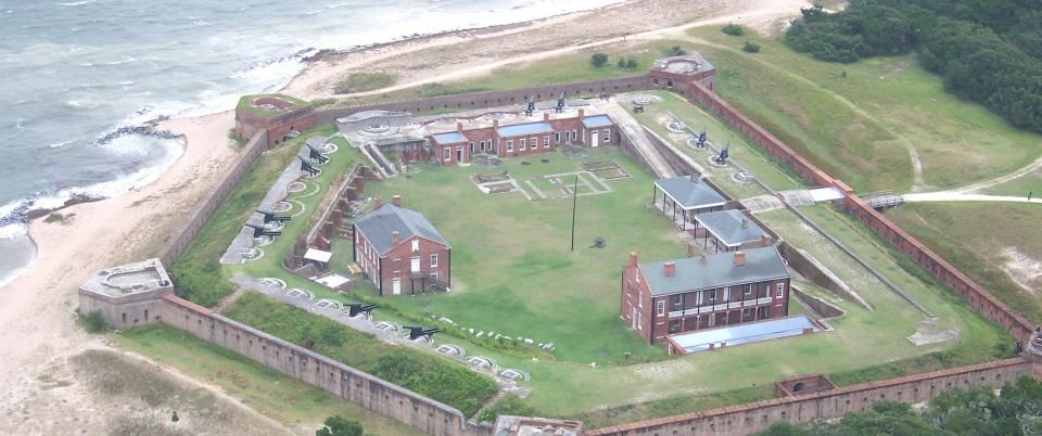 An Aerial View Of Historic Fort Clinch And The St Mary